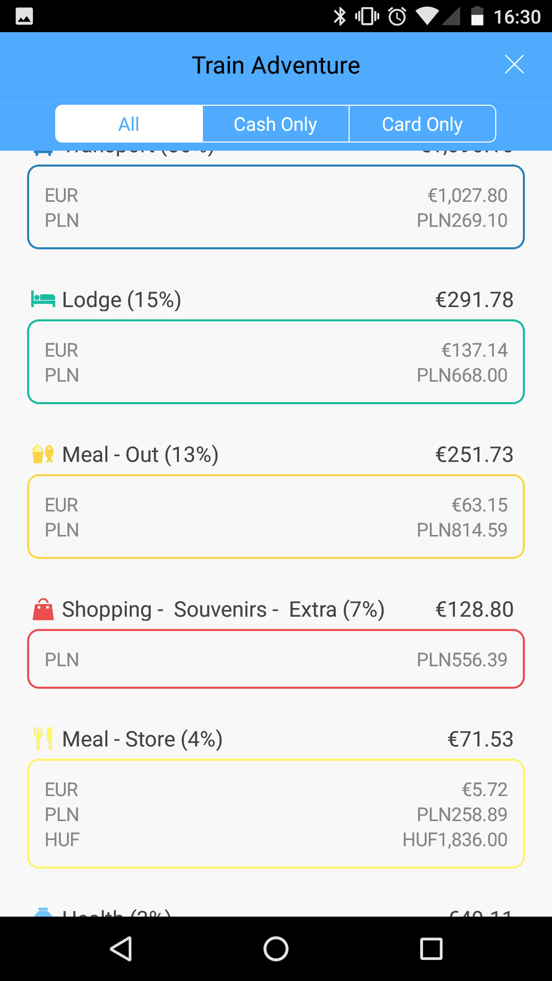 Best Travel Budget App - Money Management App - Trabee Pocket Screenshot - Only Once Today