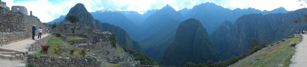 Mountain view at Machu Picchu