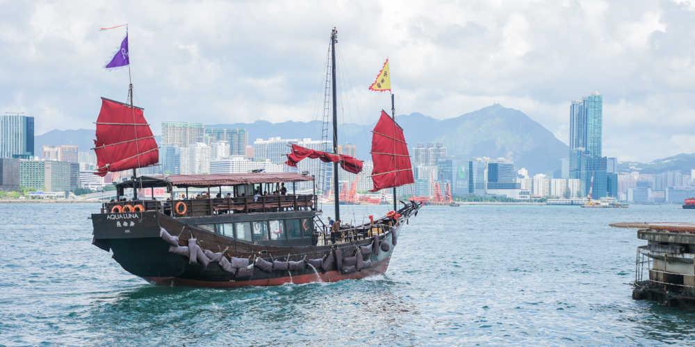 Hong Kong - Chinese Junk Boat