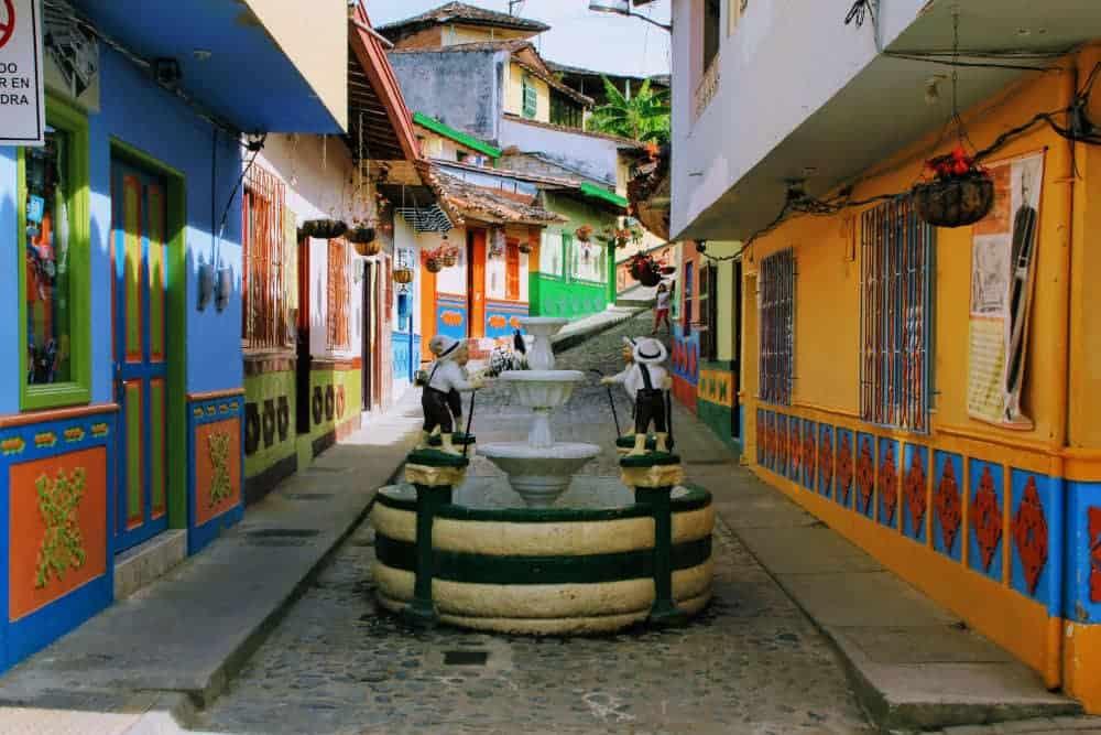 Guatape colourful streets