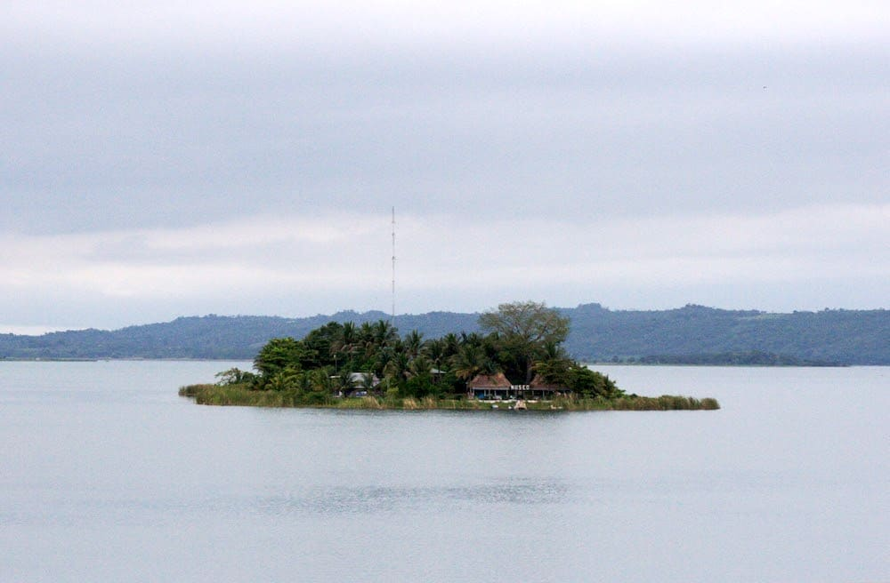 Small Island in Lake Peten Itza Guatemala