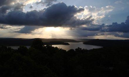Lake Yaxha Guatemala - View at sunset