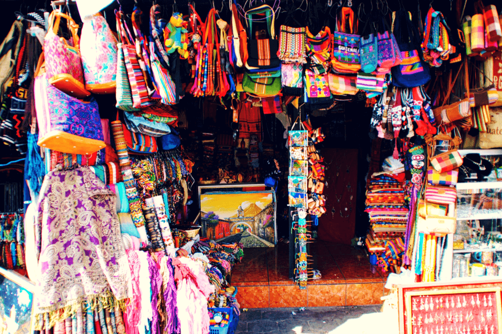 Colorful handicrafts in Guatemala