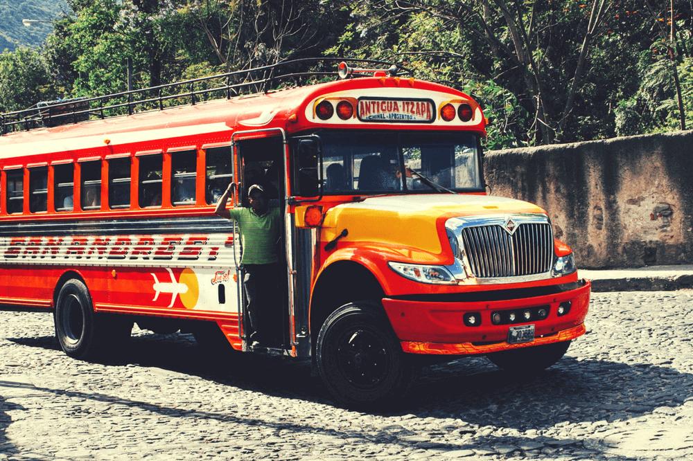 Chicken bus in Antigua Guatemala
