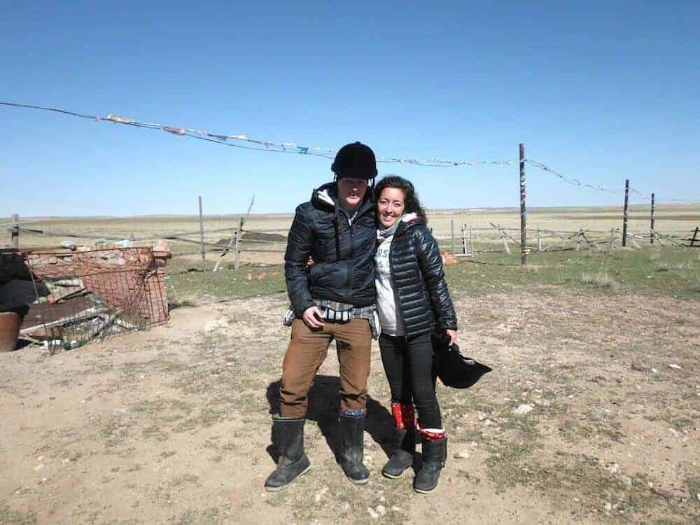 Getting ready for some horseback riding - Inner Mongolia Grassland
