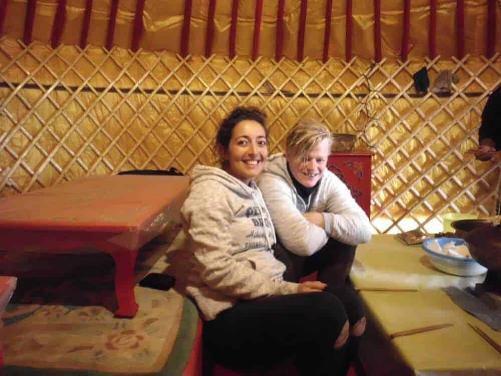 Inside a traditional Mongolian Yurt