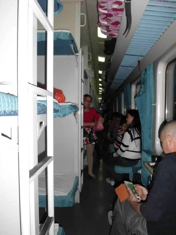 Hard Sleeper Aisle - China Train Guide - Only Once Today