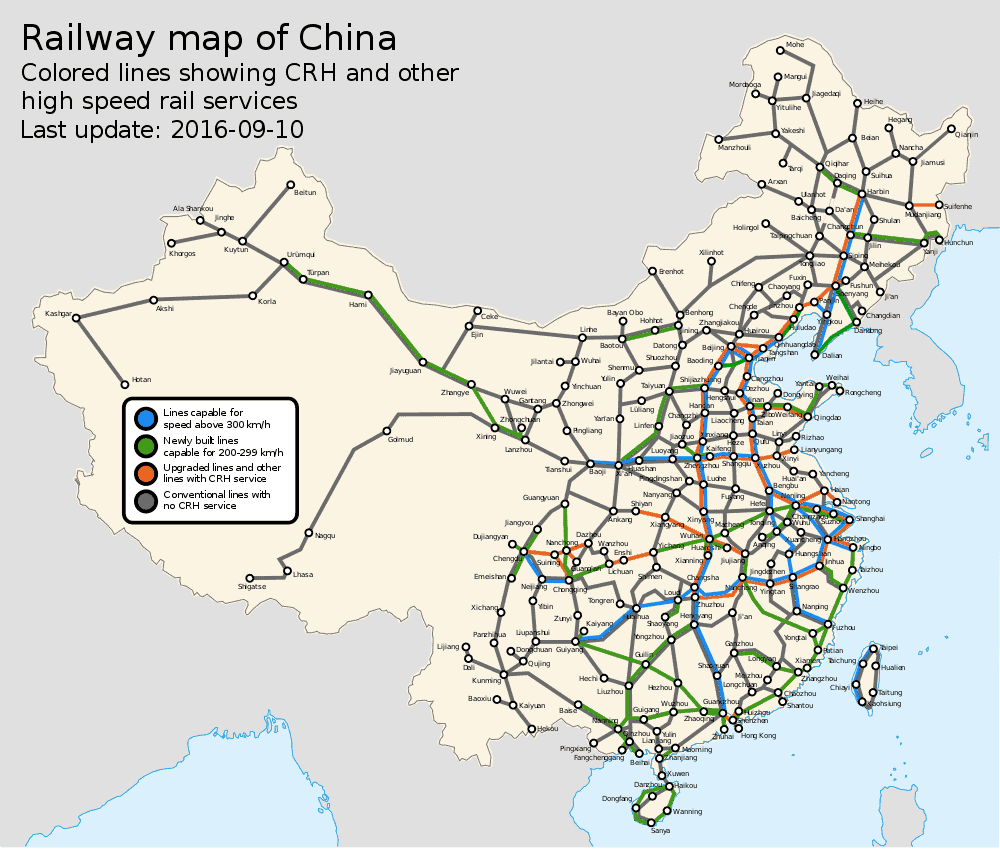 Rail Map China