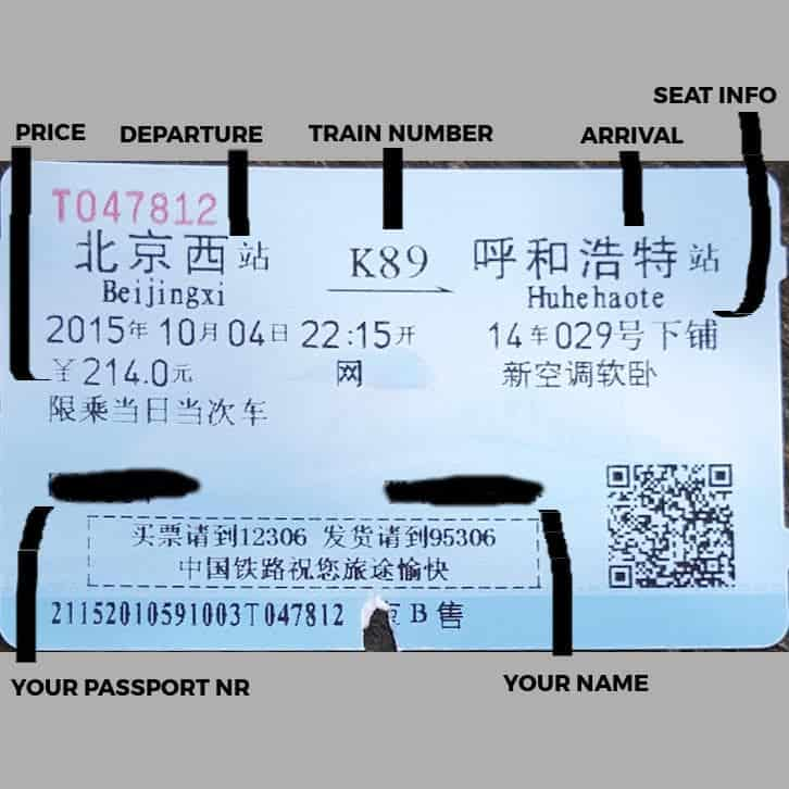 How to read your train ticket
