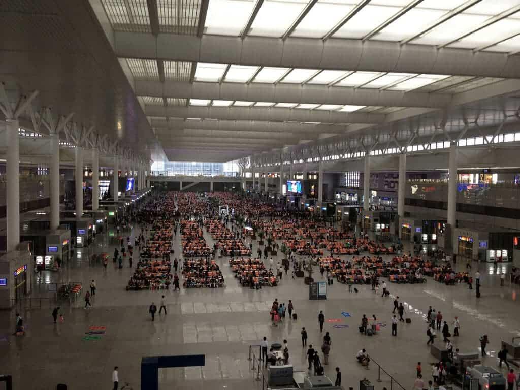 Waiting Rooms China Train Station