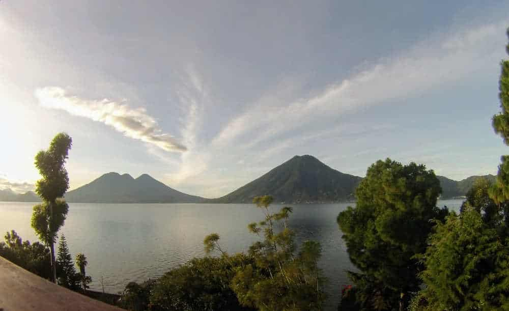 Volcano in Guatemala at Lake Atitlan