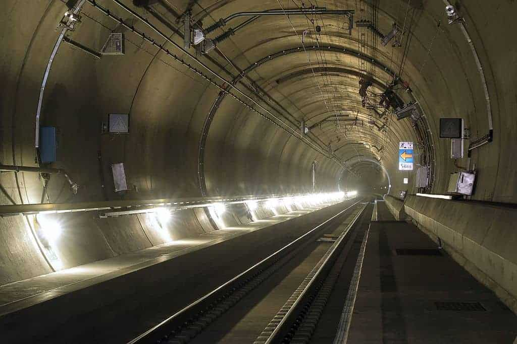 Gotthard Base Tunnel - Interesting train trips Europe - Did you know about these? - Photo Courtesy: Wikimedia Commons