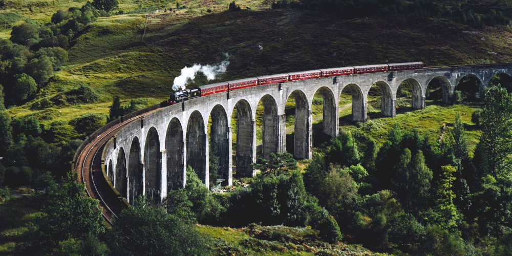 Jacobite Railway Glennfinnan Viaduct