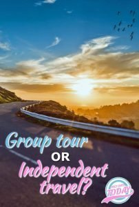 Guided tour versus independent travel