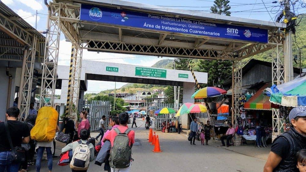 La Mesilla - Mexico Guatemala Border Crossing