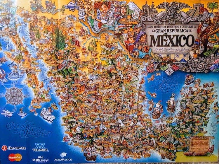 Backpacking Mexico Map - Mexico Itinerary - Only Once Today
