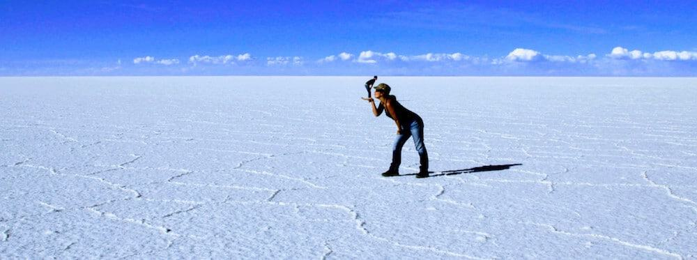 Photo Fail - Such a cute kissing couple! - Uyuni Salt Flats