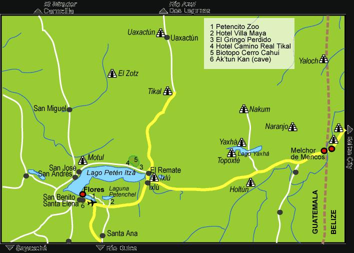 Wikimedia Map of Ruins in the Peten Region