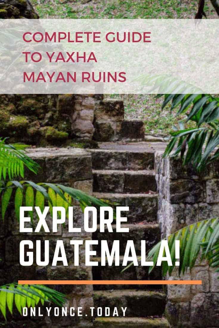 Yaxha ruins Guatemala