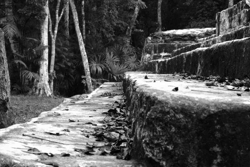 Stairs at the Mayan Ruins of Yaxha