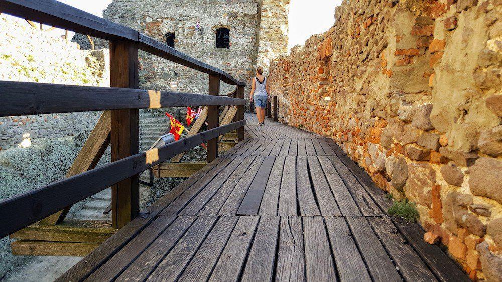 Inside Boldogkő Castle Hungary