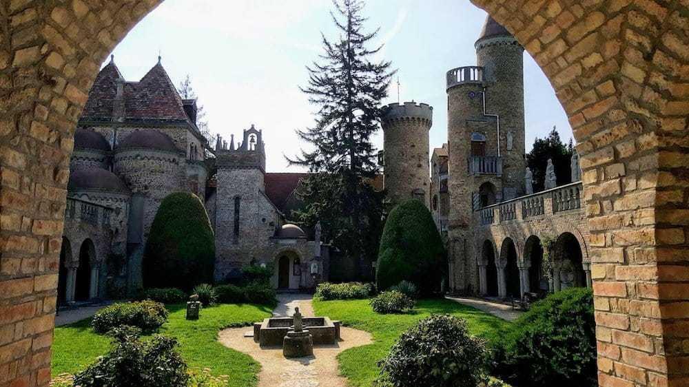 Binnentuin Bory Kasteel Hongarije