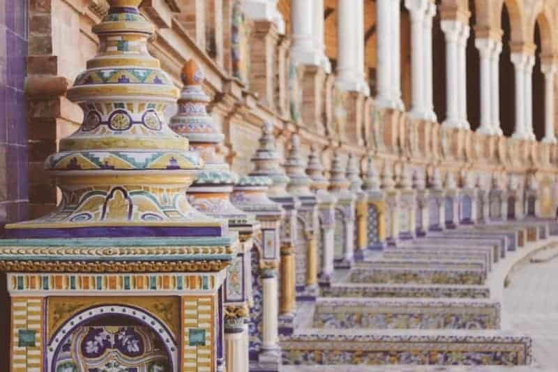 Seville - Plaza de Espana - Spain by rail in 12 days