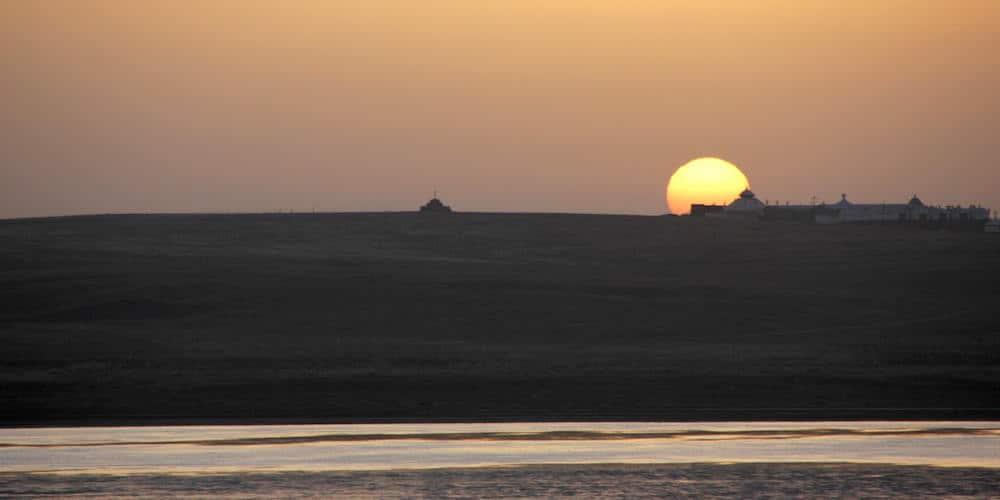 Sunrise on the grasslands of Inner Mongolia