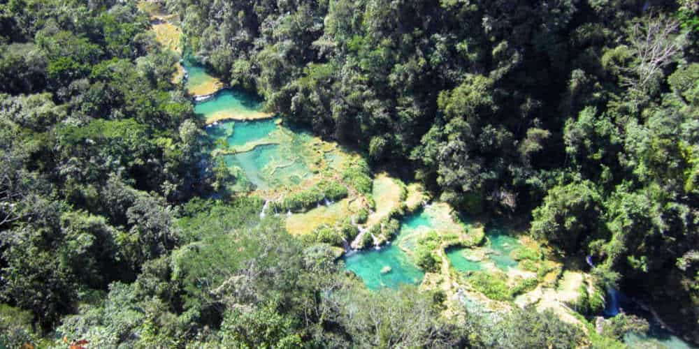 Semuc Champey as seen from the Mirador