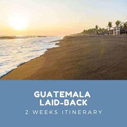 Guatemala Laid Back itinerary