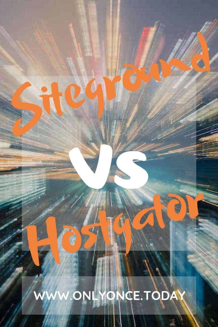Siteground Vs Hostgator - Why we changed our wordpress web hosting
