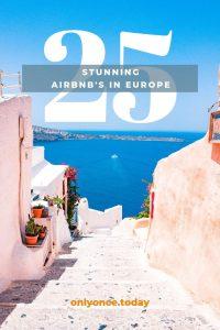 Airbnb listings in Europe