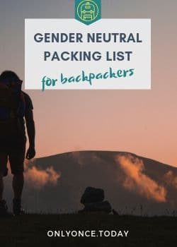 Gender Neutral Packing List for Backpackers
