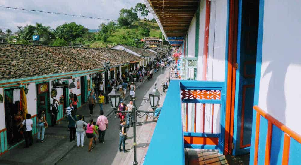 Calle Real in Salento Colombia