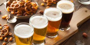 Assorted Beers in a Flight