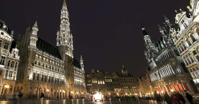 Panoramic View of Grand Place in Brussels