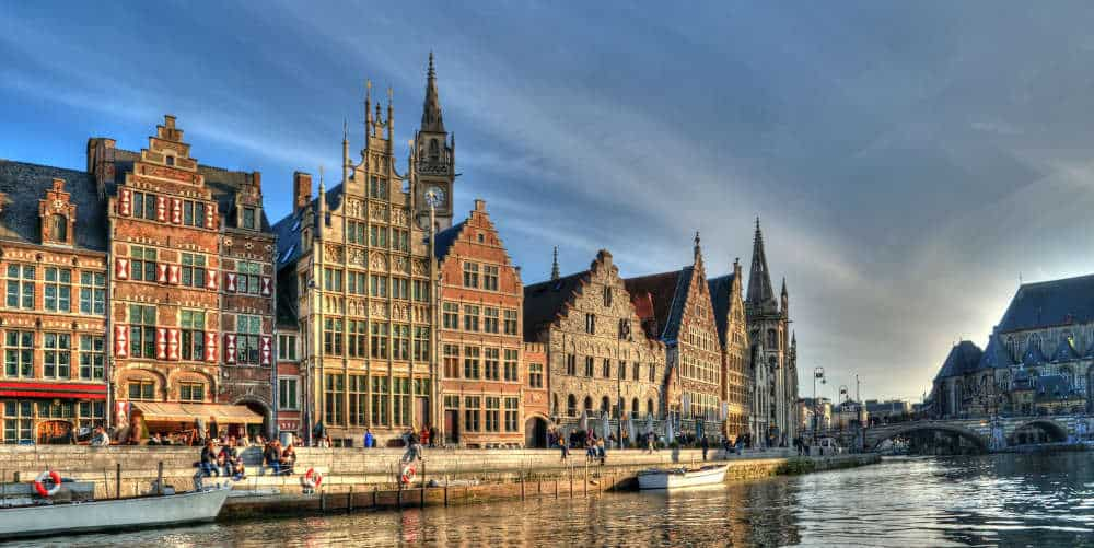 Historical center of Gent, Belgium.
