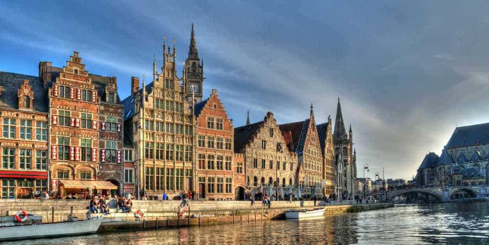 Historical center of Gent, Belgium.
