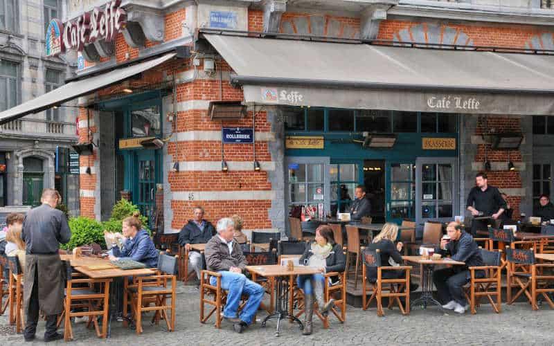 Belgium, picturesque Sablon district of Brussels