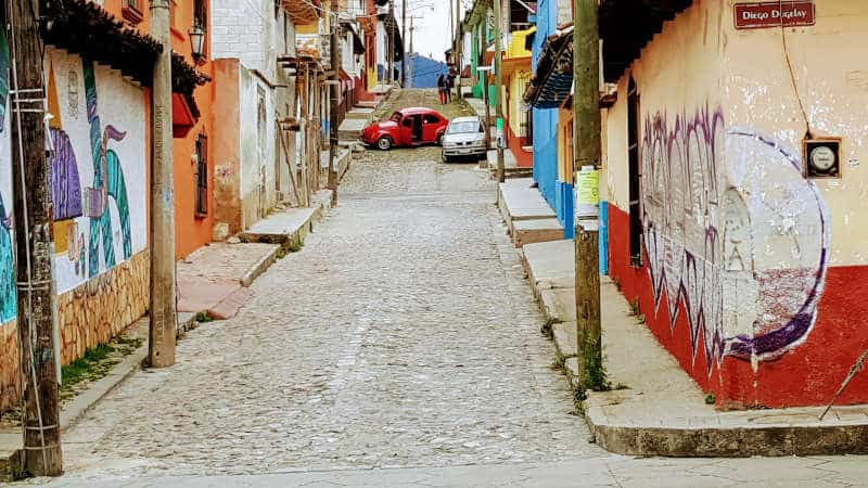 San Cristobal street view in town