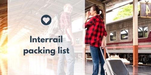 Interrail packing list