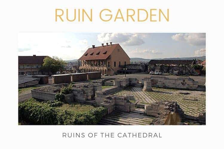 Ruin garden of the castle of Eger