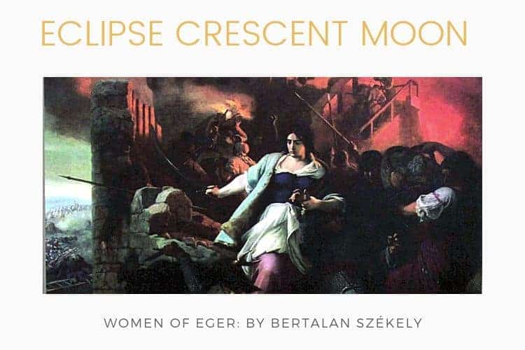 Eclipse of the crescent moon