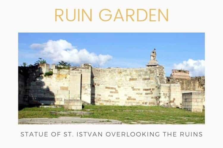 Ruin garden statue Istvan